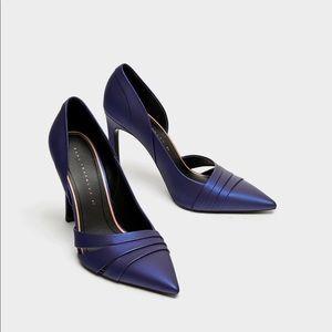 ZARA asymmetric high heel court shoes US 8 EU 39